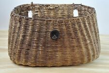 Vintage Fish Creel Basket Fishing Cabin Decor Tight Weave - No Lid Collectible