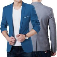 New Stylish Tops Men's Casual Slim Fit One Button Formal Suit Blazer Coat Jacket