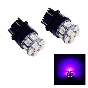2x 3157 CK SRCK 13 SMD 5050 LED  Purple Direction Turn Signal Light Lamp Bulb
