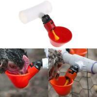 4 Stück Geflügel Wasser Trinkbecher-Huhn-Henne-Kunststoff automatische Drin V0L9