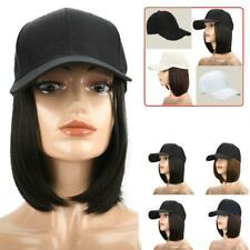 Women Fashion Comfortable Duck Tongue Cap Straight Short Wig Baseball Hat