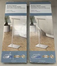 Lot of 2 Gatco Minimalist Standing Tissue Holders in Chrome