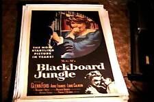BLACKBOARD JUNGLE  ORIG MOVIE POSTER 1958 LINEN GLENN FORD ANNE FRANCIS
