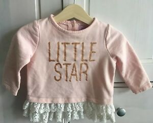 F&F Pretty Little Star Jumper for baby girl 6-9 months