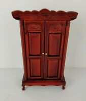 Victorian Dollhouse Furniture Armoire Solid Wood Bedroom 1:12 Melissa And Doug
