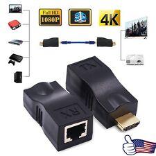 4K 1080P HD 3D HDMI Extender Over Single RJ45 Cat 5e/6 Network Ethernet Adapter