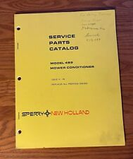 New Holland Model 489 Mower Conditioner Service Parts Catalog Issue 4 84