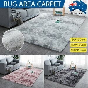 Fluffy Large Rug Plush Soft Shaggy Mat Living Room Carpet Bedroom Rugs Non Slip
