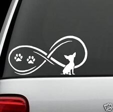 C1058 Infinity© Chihuahua Dog Decal Sticker Car Truck SUV Van Laptop Mac Wall