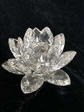 Swarovski Crystal Candle holder. Water Lily. 7600Nr123. Original Box