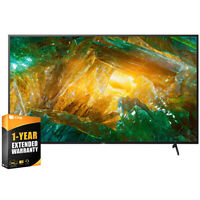"""Sony 75"""" X800H 4K Ultra HD LED Smart TV 2020 Model + 1 Year Extended Warranty"""