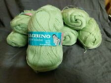Vintage 100% Acrylic Yarn (Light Green) Dralon Bambino 8 50g skeins
