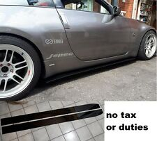 350z straight tapered side splitters extension skirts