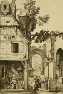 Albrecht Durer (after); 'The Nativity' original etching 1800's