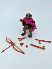 Vintage Playmates TMNT Ninja Turtles Splinter Action Figure & Accessories 1988