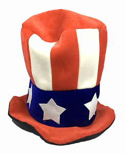Uncle Sam Plush Soft Top Hat - July 4th Patriotic USA - Adult Costume Cosplay