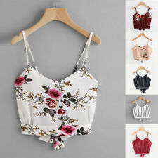 Women Fashion Summer Tanks Tops Vest Blouse Casual Crop Cami Camisole Short Top