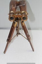 "Antique Decorative Nautical Binocular With Tripod 9"" Collectible Gift Item Decor"
