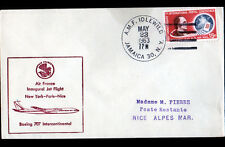"1° VOL AIR-FRANCE New York-PARIS-Nice BOING, Oblitération ""A.M.F. IDLEWILD"" 1963"