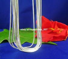 """Wholesale 5pcs 925 solid Silver 1.2mm Snake Chain Necklace 18"""" inch"""
