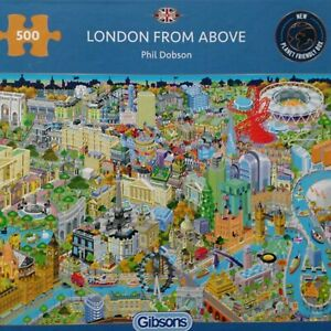 Brand New Gibsons 500 Piece Jigsaw Puzzle - LONDON FROM ABOVE