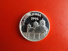 * Finnland 20 Euro 1996 Silber PP *  Olavinlinna  (Alb.1 )