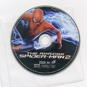 Amazing Spider-man 2 PG-13 2014 movie like-new DVD disc & sleeve Garfield Stone