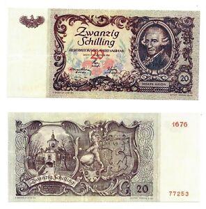 - Paper Reproduction -   Austria 20 schillings 1950    40