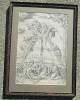 "Antique16th Cent Engraving""Descent From The Cross"" Antonio Salamanaca MAKE OFFER"
