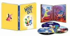 Disney Pixar Inside Out (4K Ultra HD + Blu Ray) 3 Disc Set in Steelbook Case VG