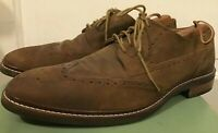 Men's Cole Haan Grand O.S. Brown Suede Wingtips Dress Shoes 11.5