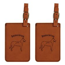 L1571 Beauceron Standing Luggage Tags 2Pk Free Shipping 200 Breed Available