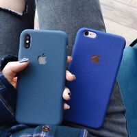 For iPhone XS Max XR X 8 7 Plus 6s Soft Silicone TPU Matte Back Case Slim Cover