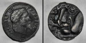 Curiosa Napoléon III erotique Jeton satirique Medaille maison close phallus sexe