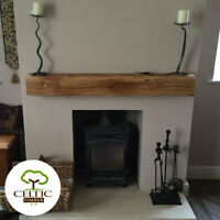 Solid Oak Beam Floating Shelf Mantle Piece Fire Place Surround Sanded Shaped new