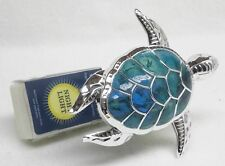 BBW Wallflower SILVER & TURQUOISE TURTLE Night Light Diffuser Unit Plug Holder