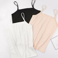 Women's Plain Sleeveless Ladies Stretch Strappy Cami Camisole Vest Tank Top