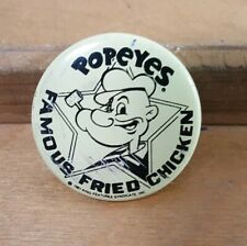 1981 Popeye's Fried Chicken Button Promo Pinback