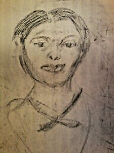 CHARCOAL AND PAPER FIGURAL DRAWING 1983 BY ELWYN JOHNSON ARTIST
