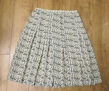Ladies Mix Colours Flowers Pleated Flare Long Summer Skirt Plus Size UK 18
