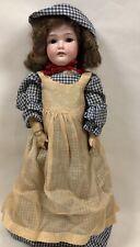 "Antique Simon & Halbig Bisque Head Wood Body CMB 21"" Doll"