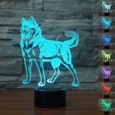 Doberman Pet 3D Night Light LED Table Lamp 3D Lihgting 7 Color Changing USB Lamp
