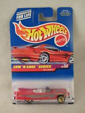 Hot Wheels  1997-699 - '59 Caddy Convertible  Red   NOC 1:64  (618+)  18781