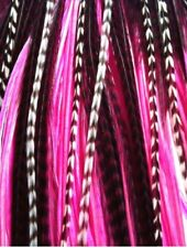 """*SALE* 30pcs. (Hot Pink) Long 8""""-13"""" Feather Extension, Whiting Farms, DIY Kit"""