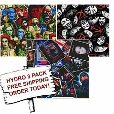 Hydrographic Film Water Transfer Printing Film Hydro Dip Horror Pack 3 Pack