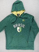 Brasil National Soccer Team Umbro Warmup Hoodie Sweatshirt (Mens XL) Green