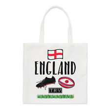 Rugby England Small Tote Bag - Funny League Union Rose Flag Shoulder