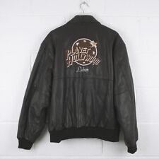 Vintage PLANET HOLLYWOOD LISBON Leather Bomber Jacket Size Mens XXL /R36038
