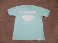 Diamond Supply Company Shirt Adult Medium Green White Skateboard Spell Out Men S
