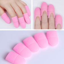 5pcs UV Gel Polish Remover Wraps Soaker Silicone Soak Off Cap Clip Nail Art Pink